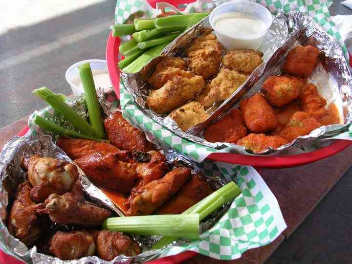 Wings – many flavors to choose from!